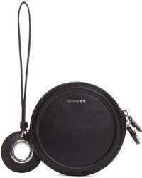 Carven - Black Circular Zip Pouch - Lyst