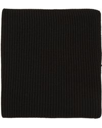 Hyke - Black Wool Neck Warmer - Lyst