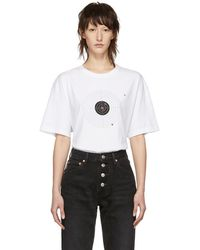 Vetements - White Target T-shirt - Lyst
