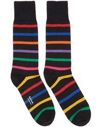 Paul Smith - Black Bright Stripe Socks - Lyst