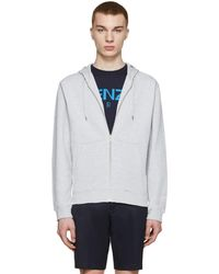 KENZO | Grey Embroidered Tiger Hoodie | Lyst