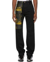 CALVIN KLEIN 205W39NYC - Black Car Crash Jeans - Lyst