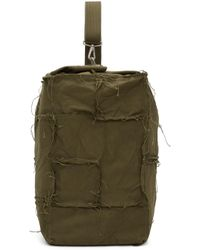 Junya Watanabe - Green Canvas One Shoulder Backpack - Lyst
