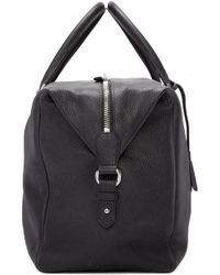 Alexander McQueen - Black Striped Strap Duffle Bag - Lyst