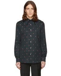 Paul Smith - Black Strawberry Skull Shirt - Lyst