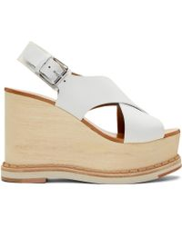 Flamingos - Ecru Trendy Wedge Sandals - Lyst