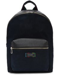 PS by Paul Smith - Navy Canvas & Leather Backpack - Lyst