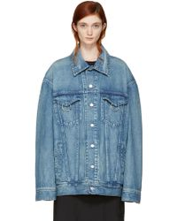 Ambush - Blue Oversized Denim Jacket - Lyst