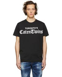 DSquared² - Black Torontos Caten Twins T-shirt - Lyst