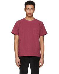 Schnayderman's - Red Poplin One Pocket T-shirt - Lyst