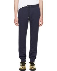 Versace - Navy Embroidered Medusa Lounge Trousers - Lyst