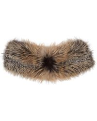 Brock Collection - Grey & Brown Fur Scarf - Lyst