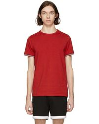 Moncler - Red Flag Sleeves T-shirt - Lyst