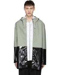 Stutterheim | Green And Black Stockholm Raincoat | Lyst