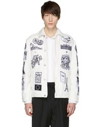 Etudes Studio - White Denim Guest Patch Jacket - Lyst