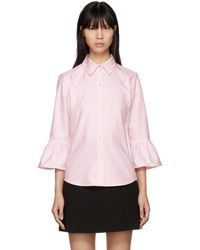 Marc Jacobs - Pink Ruffle Sleeves Shirt - Lyst