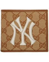 89ead14d62 Gucci Original GG Canvas Wallet With New York Yankees Patchtm in ...