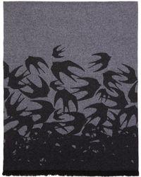 McQ - Grey Swallow Scarf - Lyst