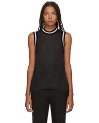 Rag & Bone - Black Priya Tank Top - Lyst