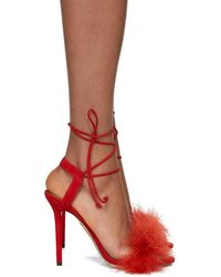 Charlotte Olympia - Red Suede Salsa Sandals - Lyst