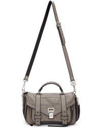 Proenza Schouler - Grey Ps1and Tiny Zip Messenger Bag - Lyst