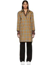 Burberry - Beige Check Rainbow Claymore Coat - Lyst
