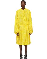 Lemaire - Yellow Large Sleeve Twist Dress - Lyst