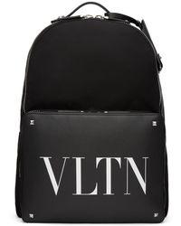 Valentino - Black Garavani Vltn Backpack - Lyst