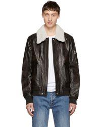 Belstaff - Brown Arne Leather Jacket - Lyst