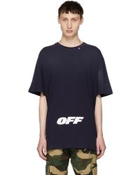 Off-White c/o Virgil Abloh - Blue Wing Off Logo T-shirt - Lyst