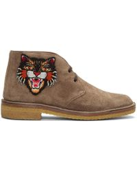 Gucci - Tan Angry Cat Moreau Desert Boots - Lyst