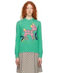 Gucci - Blue Bambi Wool Sweater - Lyst