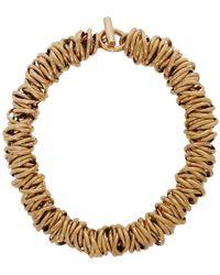 Balenciaga - Gold Multiring Necklace - Lyst