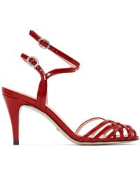 Gucci - Red Draconia Sandals - Lyst