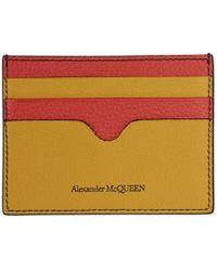 Alexander McQueen - Porte-cartes multicolore Sunflower - Lyst