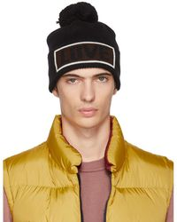 23635fad945 Fendi Love Pom Pom Knit Hat in Black for Men - Lyst