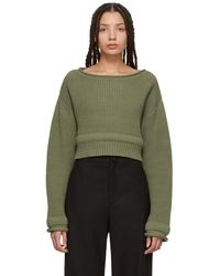 T By Alexander Wang - Green Chunky Trim Sweater - Lyst