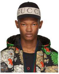 Gucci - Black Logo Band Cap - Lyst f609aee7a152