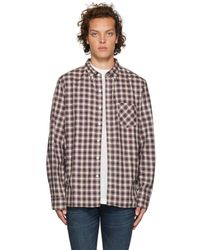 Nonnative - Off-white And Navy Check Dweller Shirt - Lyst