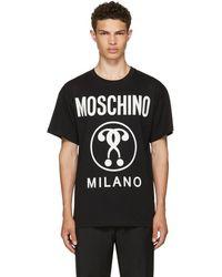 Moschino - Black Glow-in-the-dark Logo T-shirt - Lyst