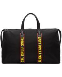 Fendi - Black Nylon ' Vocabulary' Duffle Bag - Lyst