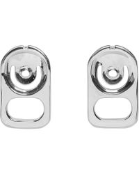 Ambush - Silver Can Tab Bead Earrings - Lyst