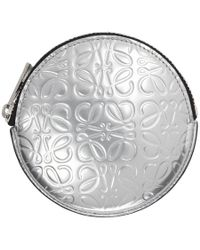Loewe - Silver Anagram Cookie Zip Coin Pouch - Lyst