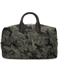 Alexander McQueen - Green And Black Medium Holdall Camouflage Bag - Lyst