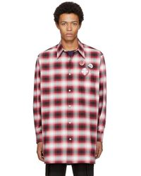 Marc Jacobs - Red Oversized Plaid Shirt - Lyst