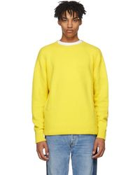 The Elder Statesman - Yellow Cashmere Simple Crew Sweater - Lyst