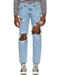 DIESEL - Blue Distressed Mharky Jeans - Lyst