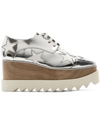 Stella McCartney - Silver Metallic Elyse Stars Derbys - Lyst