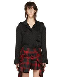 Alexander Wang - Black Pyjama Long Sleeve Shirt - Lyst
