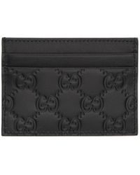 Gucci - Black Leather GG Card Holder - Lyst